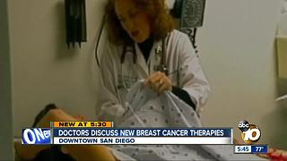 Doctors discuss new breast cancer therapies - Video