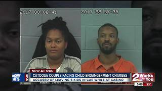 Parents leave five kids alone in car at casino - Video
