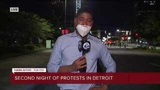 Arrests made in second night of protests