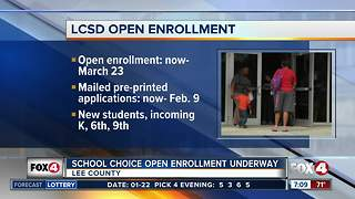 Lee County School District open enrollment underway - Video