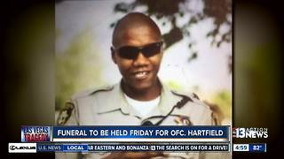 Funeral to be held for LVMPD Officer Hartfield killed in the 1 October Las Vegas shooting - Video