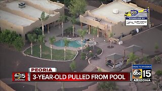 3-year-old pulled from pool in Peoria