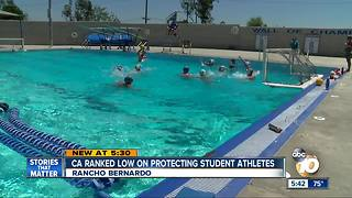 California ranked low on protecting student athletes - Video