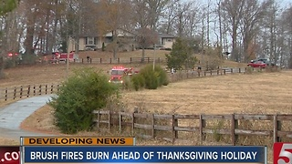 Middle TN Fights Brush Fires Ahead Of Thanksgiving - Video
