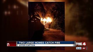 Two Homes Catch Fire in Upper Captiva - Video