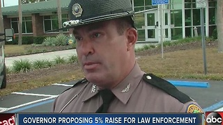 Governor proposing 5% raise for Florida law enforcement - Video