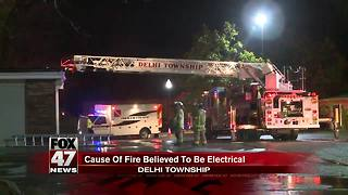 Fire at Quality Dairy in Delhi Township believed to be electrical - Video