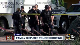 Family of suspect shot by Mesa police three times wants body camera video released - Video