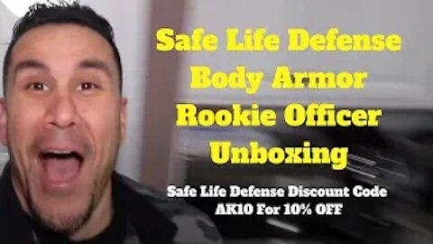 Safe Life Defense Body Armor Rookie Officer Unboxing, Safe Life Defense Discount Code AK10 for -10%