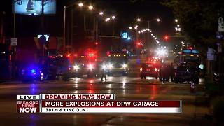 More explosions at the DPW garage - Video