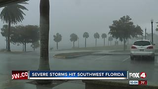 Severe Storms Hits Southwest Florida - Video