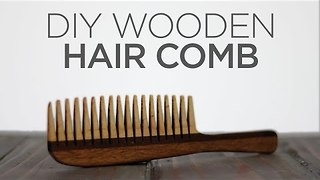 Man Creates Homemade Hair Comb - Video