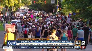 Thousands rallied against racism across Maryland