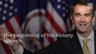 Virginia Gov.-Elect Had to be Escorted Off Stage in Middle of Victory Speech - Video