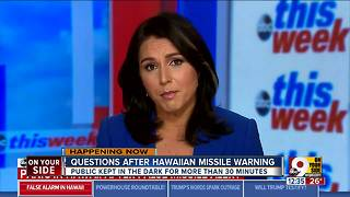 Questions after Hawaiian missile warning - Video