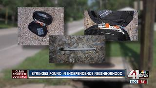 Residents find used needles in Independence neighborhood - Video