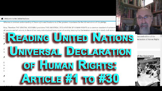 Reading United Nations Universal Declaration of Human Rights: Article #1 to #30 [ASMR, Soft-Spoken]