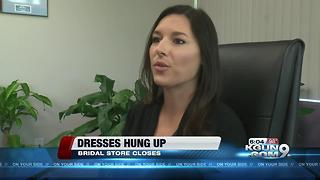 Weddings hung up as dress outfitter folds - Video
