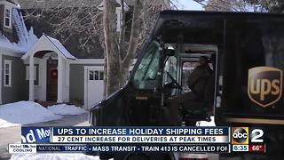 UPS adds new fee up to $1 for holiday-season deliveries - Video