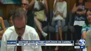Another E-cig battery explosion on camera - Video