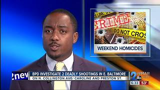 Baltimore Investigates 2 Deadly Shootings - Video