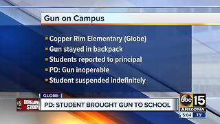 Elementary school student brings gun to Globe campus - Video