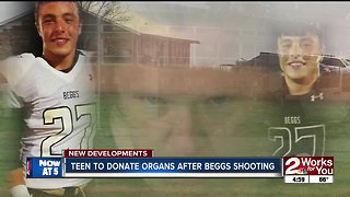Teen to donate organs after Beggs shooting - Video