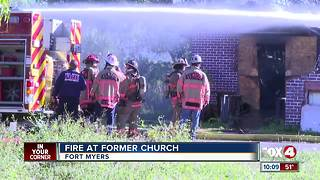 Fire At Abandoned Church - Video