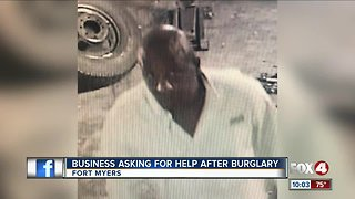 Man caught on camera stealing from tire shop