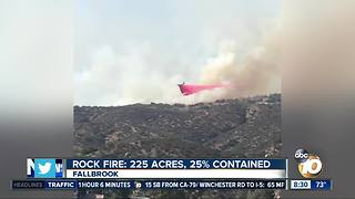 Rock fire: 225 acres, 25% contained - Video