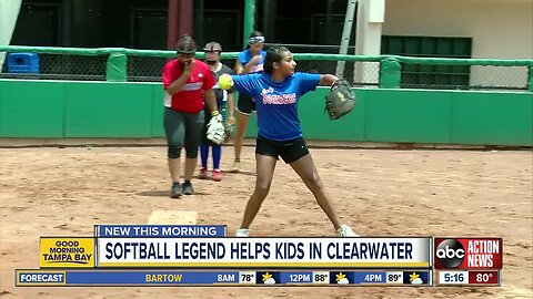 Olympic star makes sure all Clearwater girls can play softball