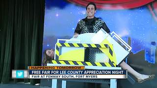 Free fair for Lee County appreciation night - 8am report - Video