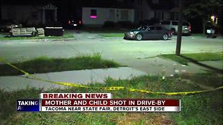 Detroit mom, baby daughter shot in drive-by - Video