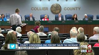 Sales tax hike to be decided by Collier voters - Video