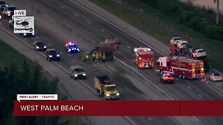Truck crash on the Turnpike causes heavy delays northbound, southbound