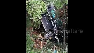 Car slides down 20m slope after driver hits accelerator by mistake