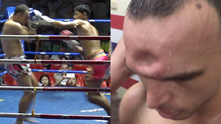 Muay Thai Fighter Gets His Skull CRUSHED in During Fight - Video