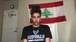 UB Women's Basketball player anxiously waits to hear from family in Lebanon