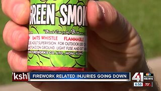 Firework related injuries going down