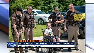 Washington County Sheriff's Office swears in junior deputy - Video