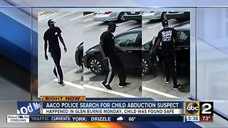 Anne Arundel County Police search for child abduction suspect - Video