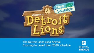 The Detroit Lions used Animal Crossing to unveil their 2020 schedule