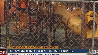 Spring Valley playground fire under investigation