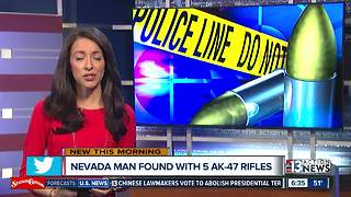 Nevada man found with 5 AK-47 rifles - Video