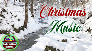 Christmas Music with deer & firepits as ambience