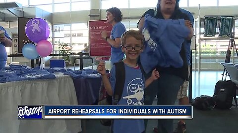 Airport rehearsal for individuals with intellectual disabilities