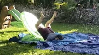 Epic slip and slide faceplant