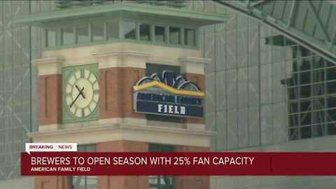 Brewers get OK to operate at 25% capacity of fans