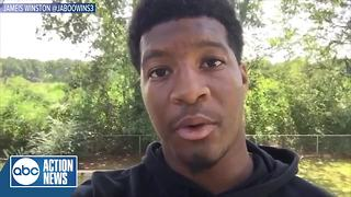 Jameis Winston delivers a message to Floridians in the midst of Hurricane Irma - Video