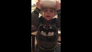3-year-old boy gets a potty stuck on his head